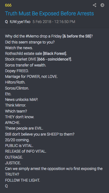 QAnon Super Bowl post 666